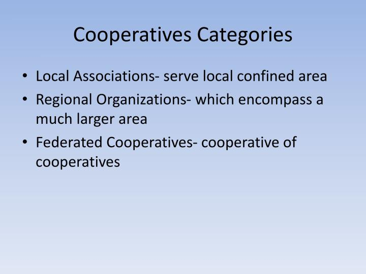 Cooperatives Categories