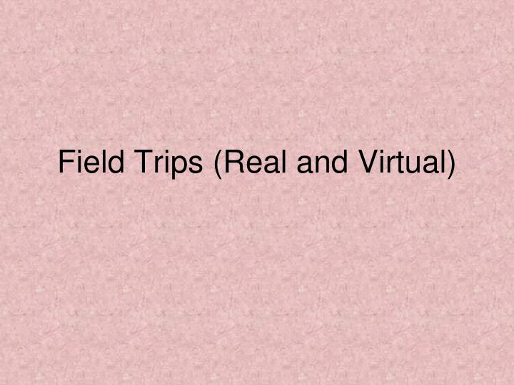 Field Trips (Real and Virtual)