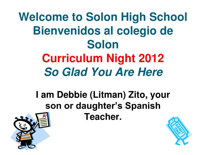 PPT - I am Debbie (Litman) Zito, your son or daughter's