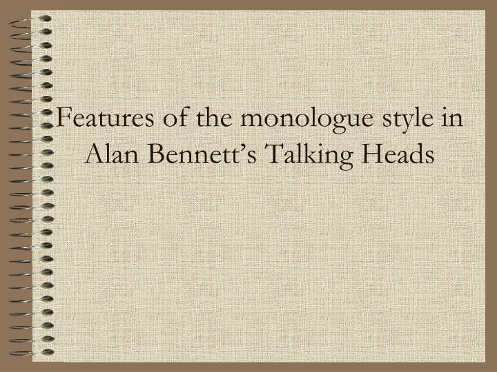 talking heads monologues