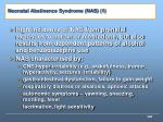 neonatal abstinence syndrome nas 1