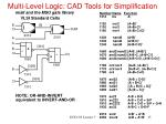 multi level logic cad tools for simplification2