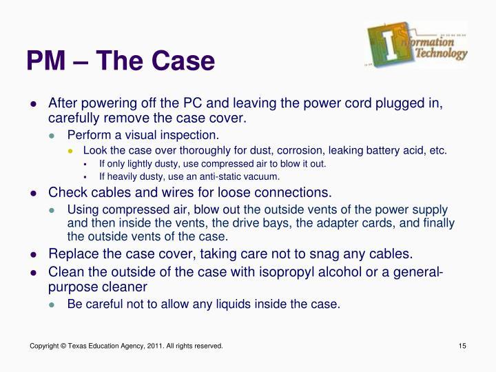 PM – The Case