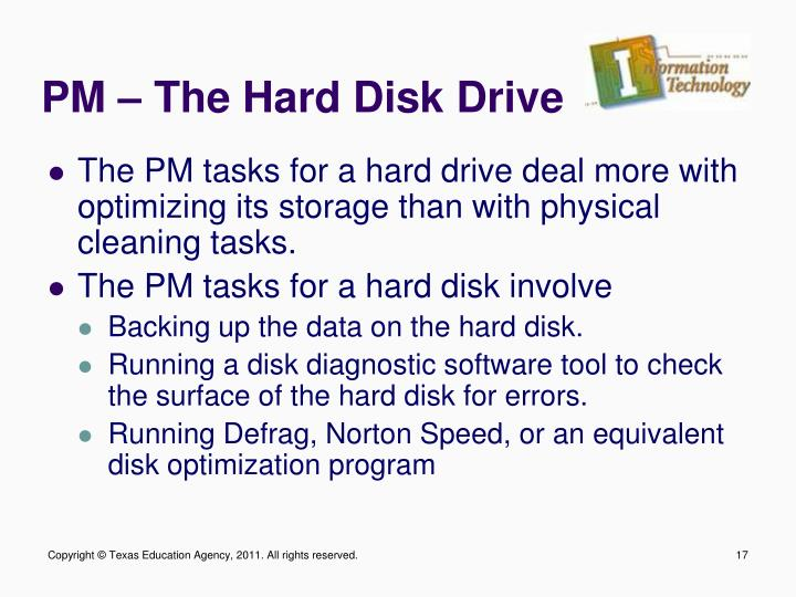 PM – The Hard Disk Drive