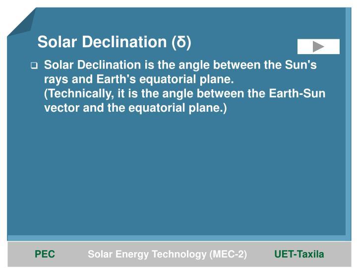 Solar Declination (