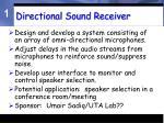 directional sound receiver