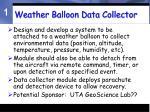 weather balloon data collector