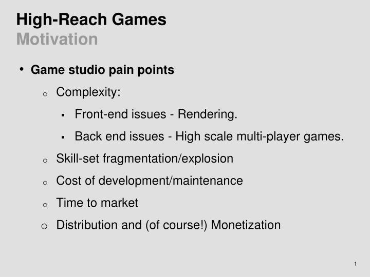 High-Reach Games