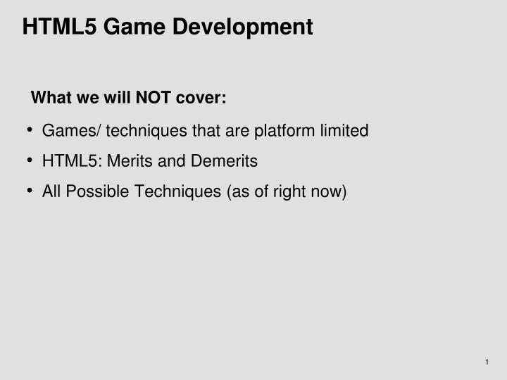 HTML5 Game Development