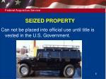 seized property