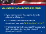 voluntarily abandoned property