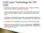 cold laser technology for fat loss