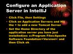 configure an application server in intellij