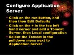 configure application server