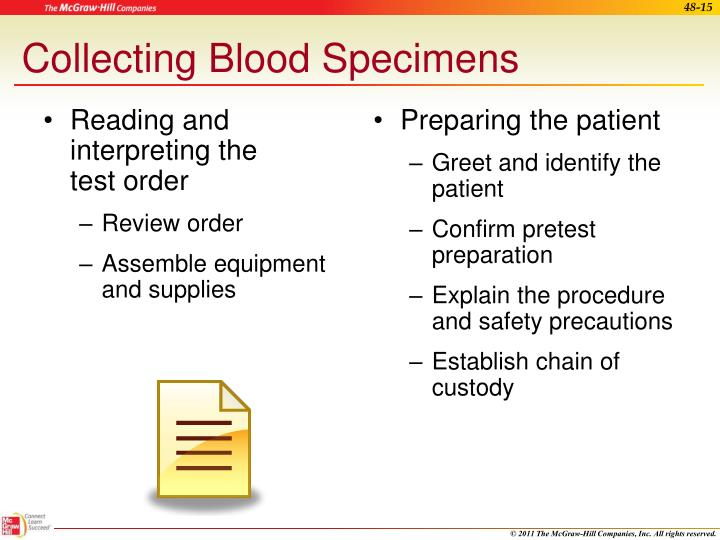 Ppt Collecting Processing And Testing Blood Specimens Powerpoint
