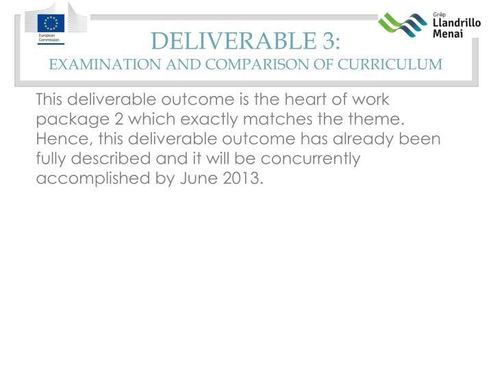 Deliverable 3: