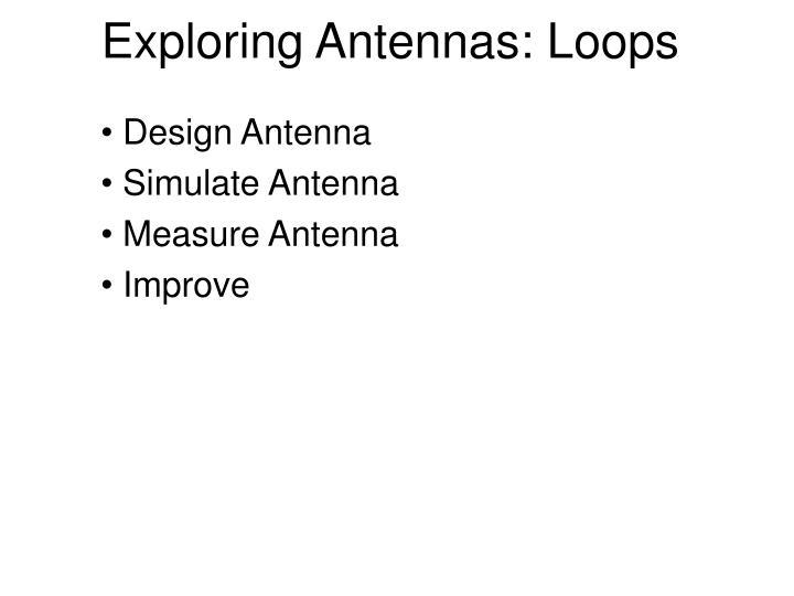 Exploring Antennas: Loops