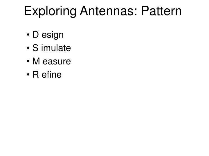 Exploring antennas pattern