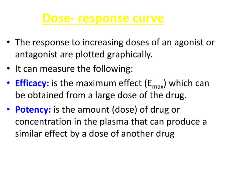Dose- response curve