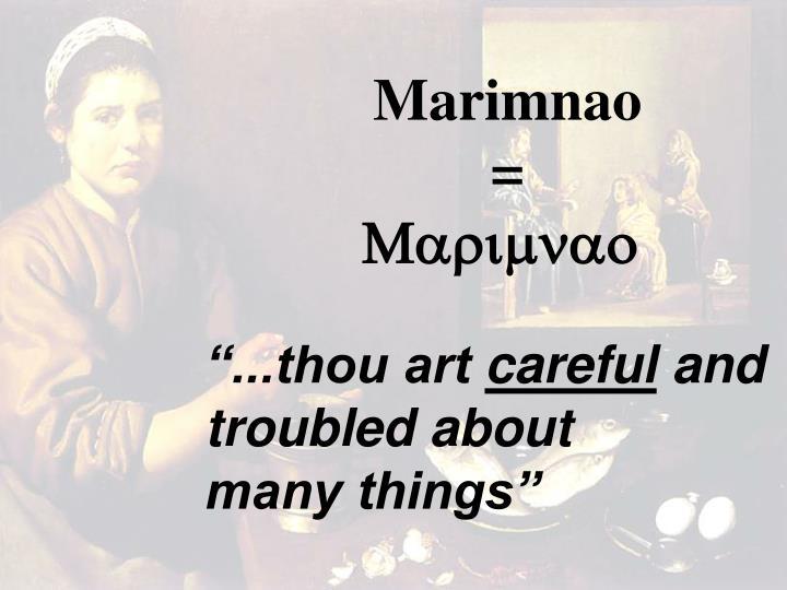 Marimnao