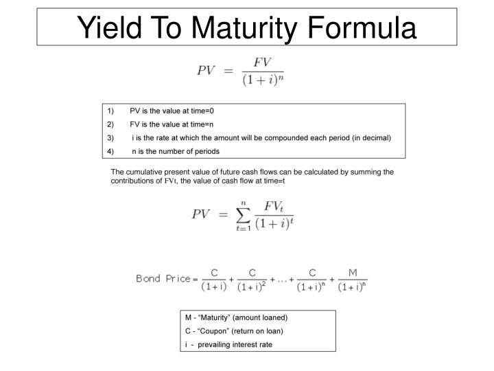 What is the bonds yield to maturity