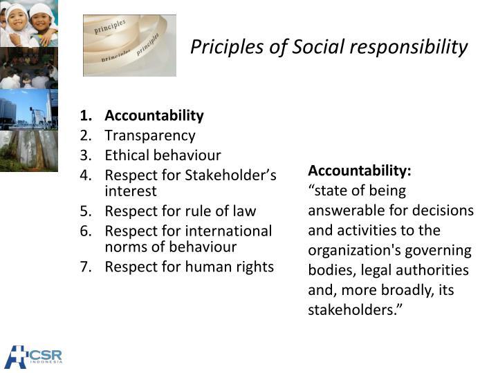 human behavior organization social responsibility