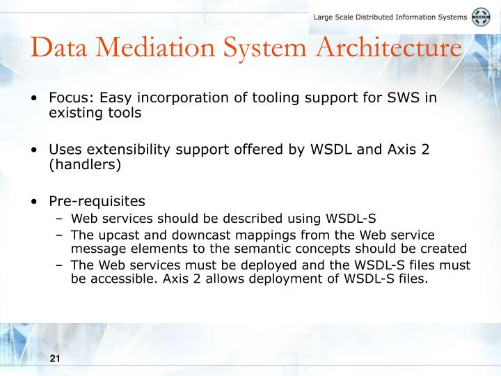 Data Mediation System Architecture