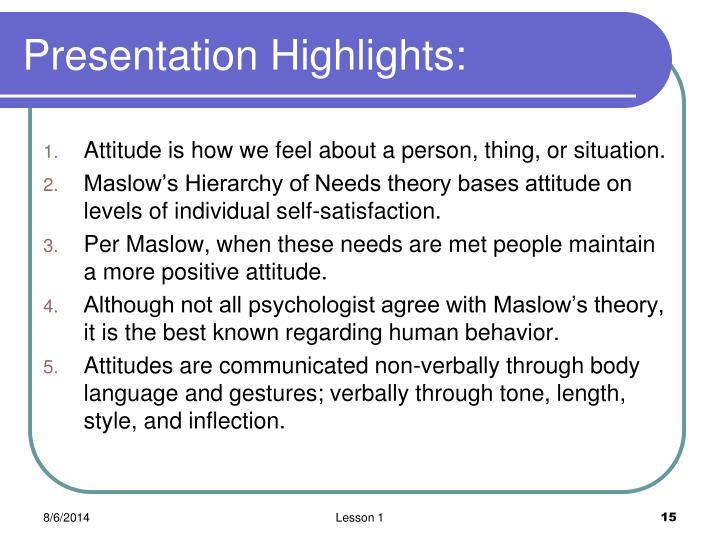 Presentation Highlights: