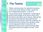 1 the twelve