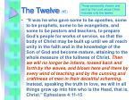the twelve 5