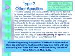 type 2 other apostles