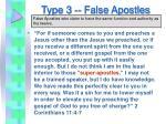 type 3 false apostles