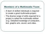 members of a multimedia team