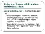 roles and responsibilities in a multimedia team1