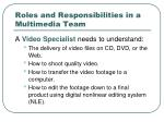 roles and responsibilities in a multimedia team5