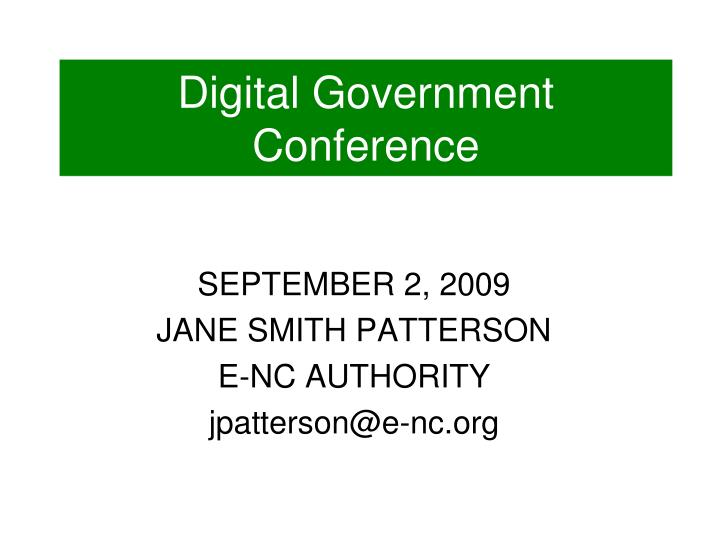 digital government conference n.