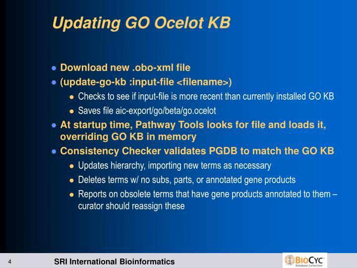 Updating GO Ocelot KB