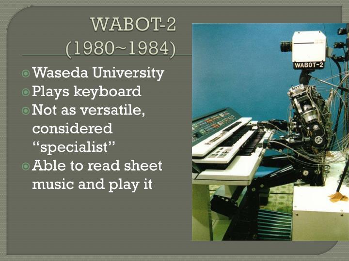 WABOT-2 (1980~1984)