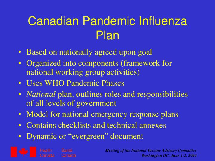 Canadian Pandemic Influenza Plan