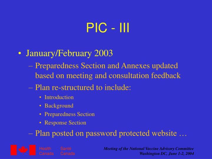 PIC - III