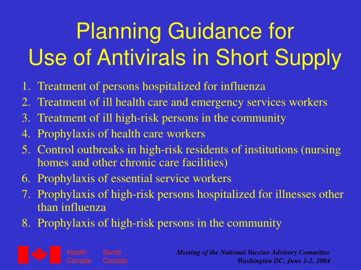 Planning Guidance for