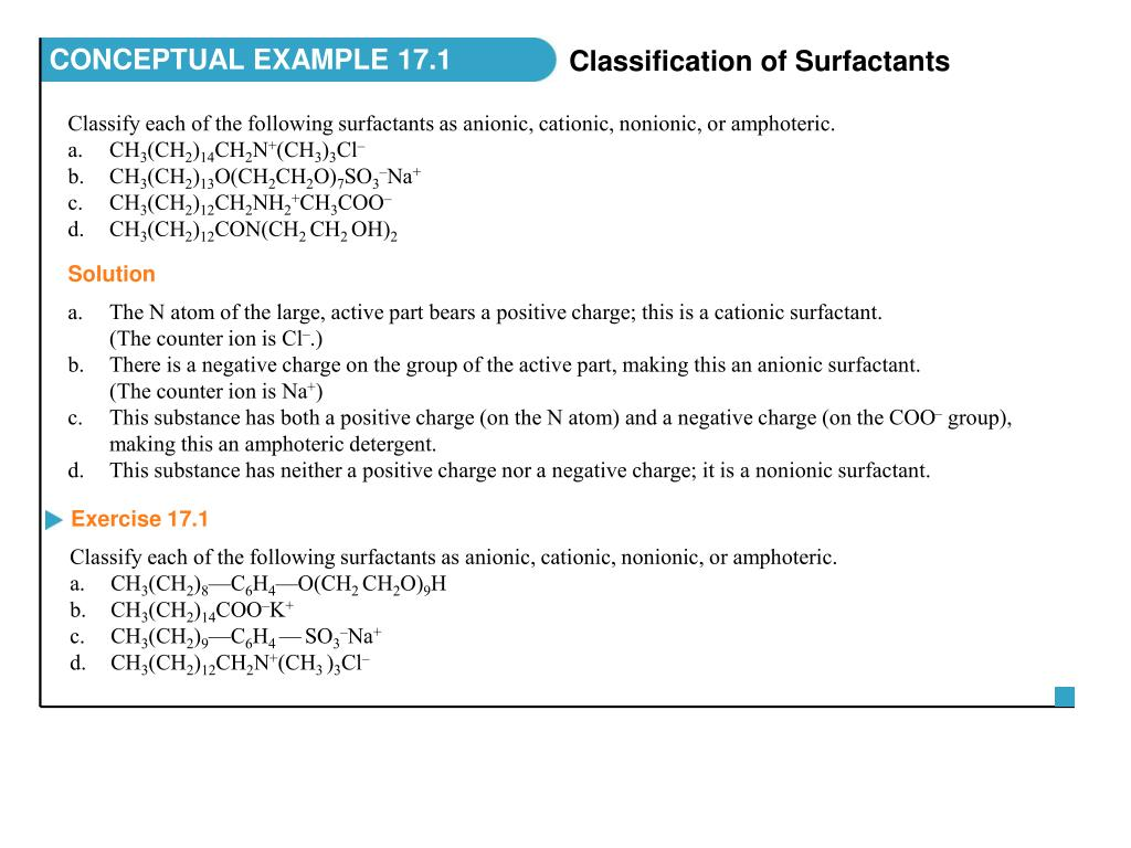 Ppt classify each of the following surfactants as anionic.