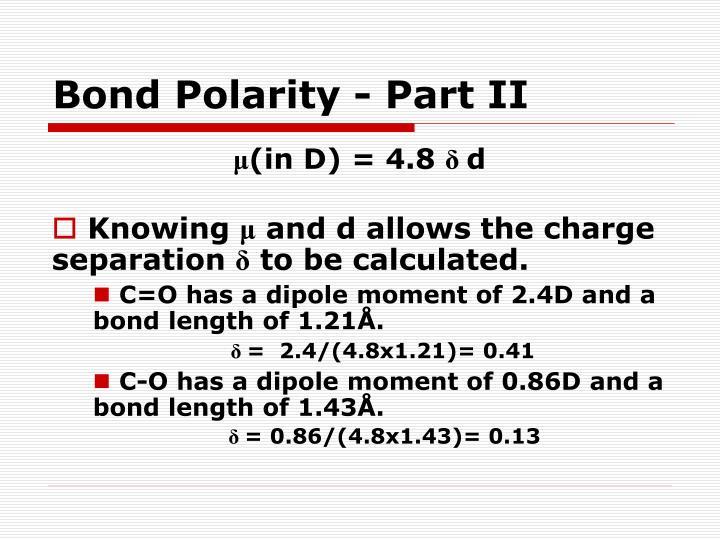 Bond Polarity - Part II