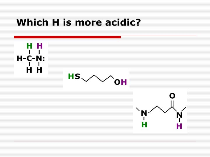 Which H is more acidic?