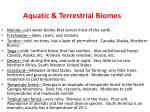 aquatic terrestrial biomes