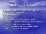taxonomy of speech acts