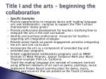 title i and the arts beginning the collaboration4