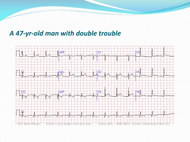 A 47-yr-old man with double trouble
