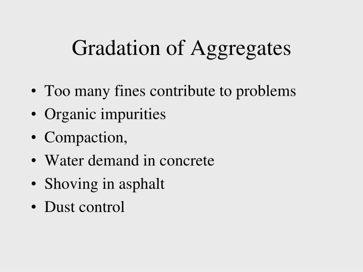 Gradation of Aggregates