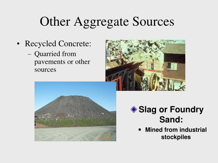 Other Aggregate Sources